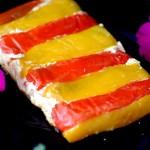 Sformato bicolore di peperoni e ricotta