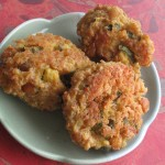 Polpettine vegetariane cous cous, zucchine e ceci